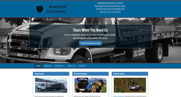 Towing Web Design
